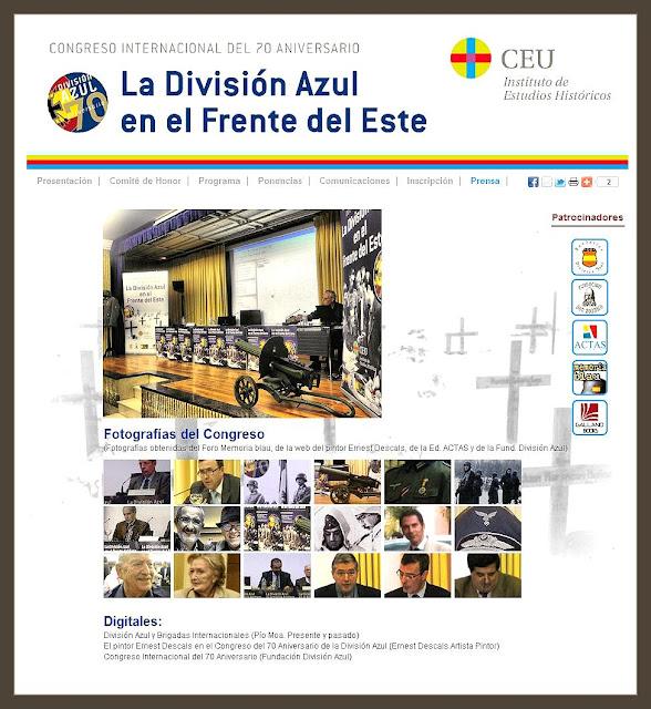DIVISION AZUL-CONGRESO-CEU-70 ANIVERSARIO-PINTURA-ERNEST DESCALS