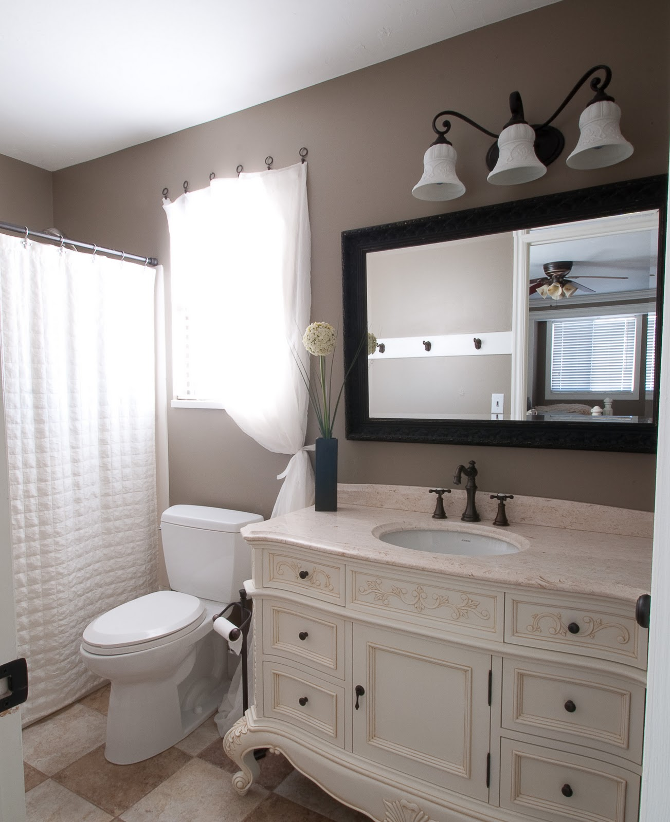 bathroom redo start at home decor