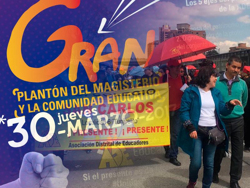 El 30 de marzo, los maestros de Bogotá salen nuevamente a las calles