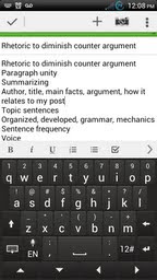 a screenshot of one of Sherri Hudson's Evernote notes
