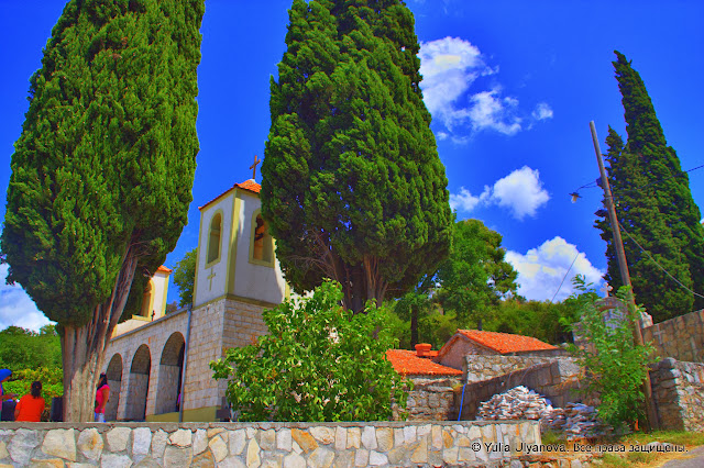 Вид на территорию Дайбабского монастыря