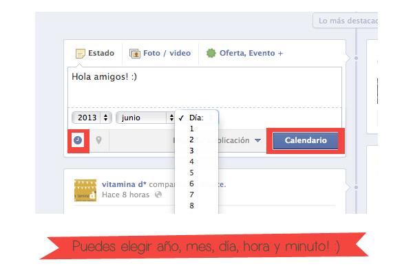 como programar entradas en una pagina de facebook