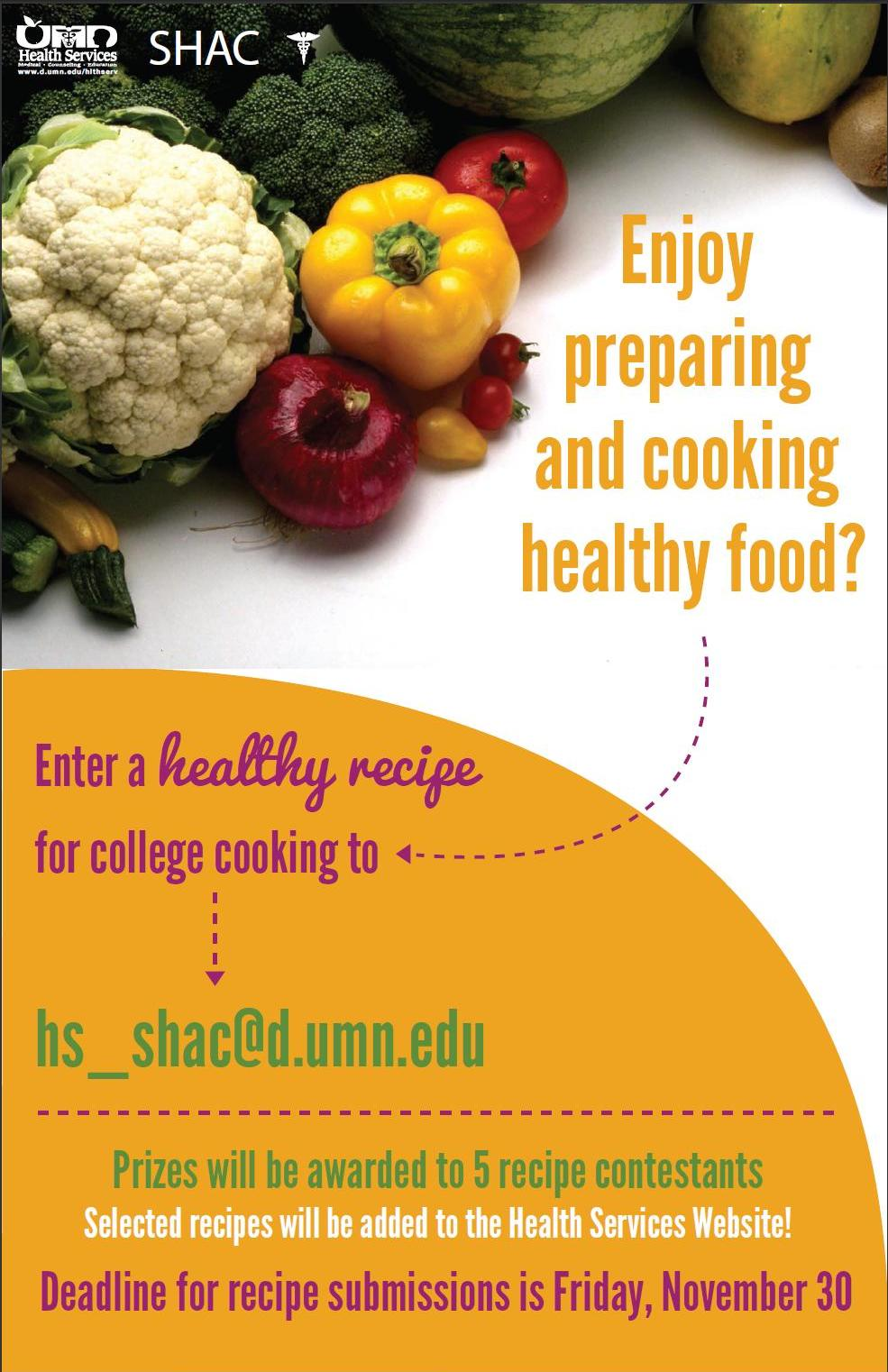 Umd foodnews recipe contest enter your healthy recipe for college look for the posters around campus forumfinder Gallery