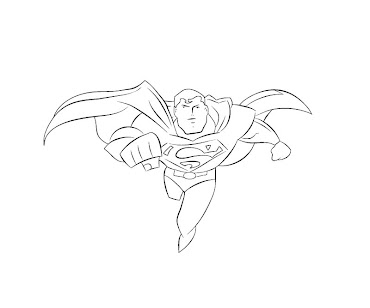 #10 Superman Coloring Page