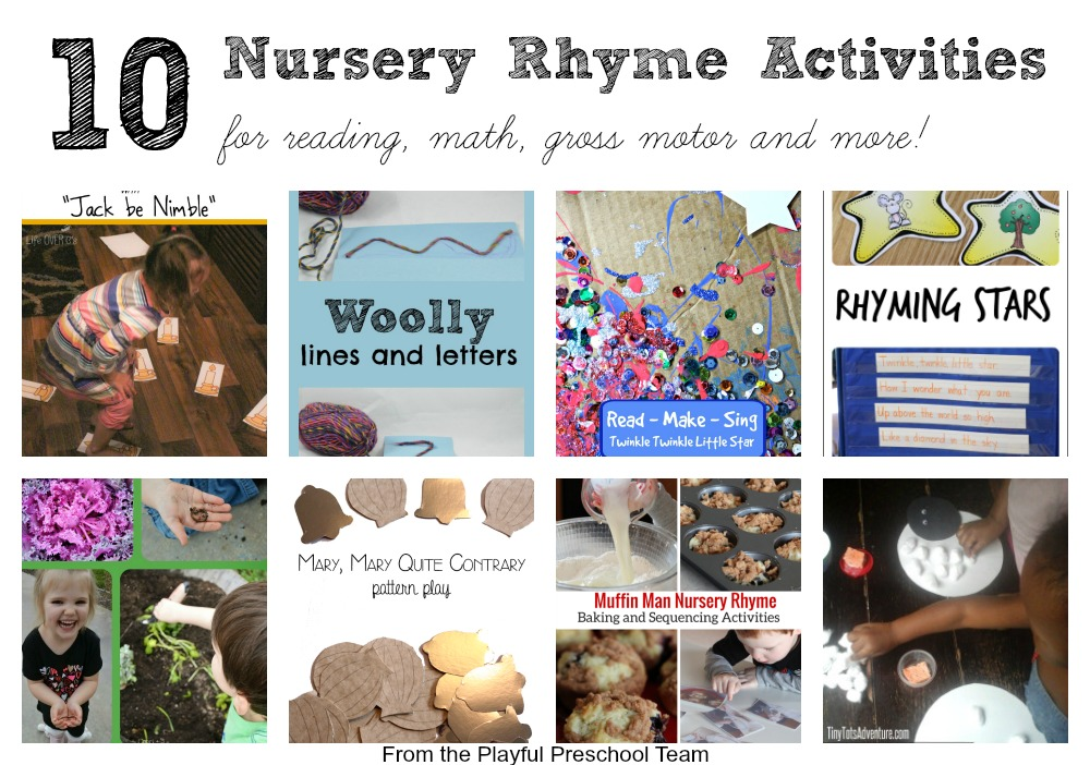Muffin Man Nursery Rhyme Activities on Ten Apples Up On Top Counting Printable