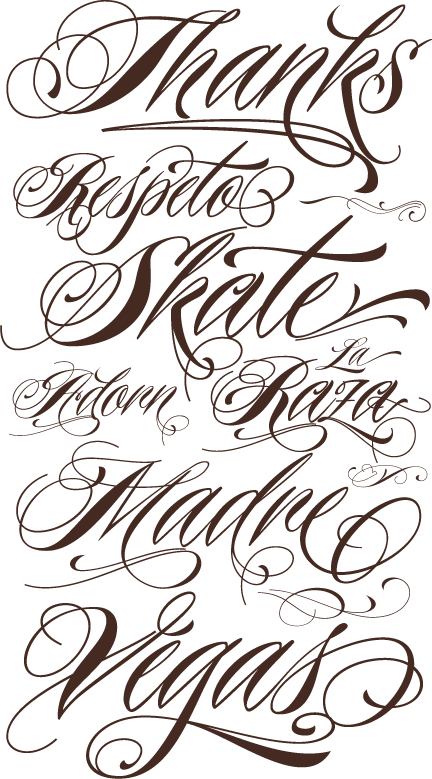 Free Printable Tattoo Lettering Designs