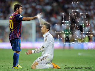 Wallpaper Ronaldo on Lionel Messi Vs Cristiano Ronaldo Wallpaper  Spanish League Top Score