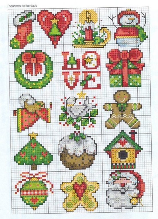It is a picture of Amazing Free Printable Christmas Ornament Cross Stitch Patterns