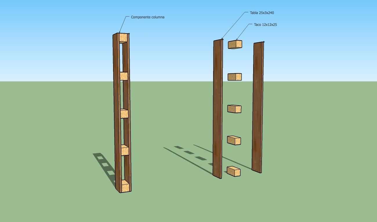 Sketchup herramienta caad t cnicas b sicas ii - Tablas de madera a medida ...