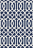 Schumacher Imperial Trellis Navy / Ivory 5005801