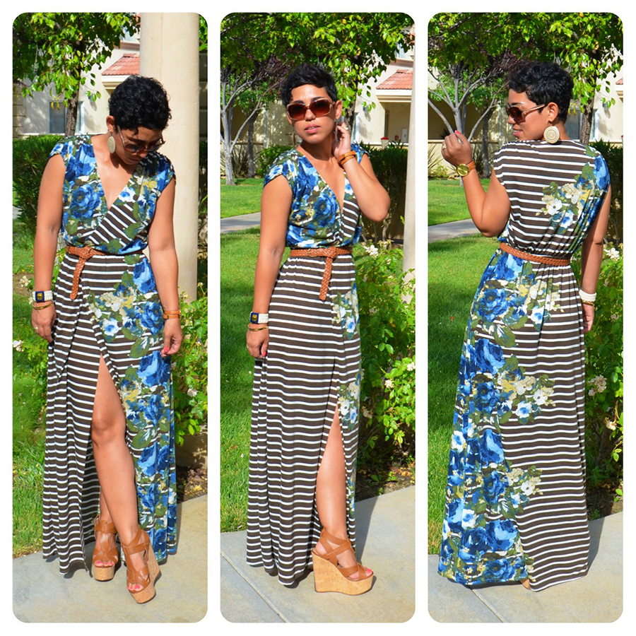 Diy Front Slit Maxi Dress