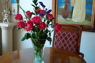 MY BIRTHDAY FLOWERS, JUST A TAD LATE...........THANKS, M.