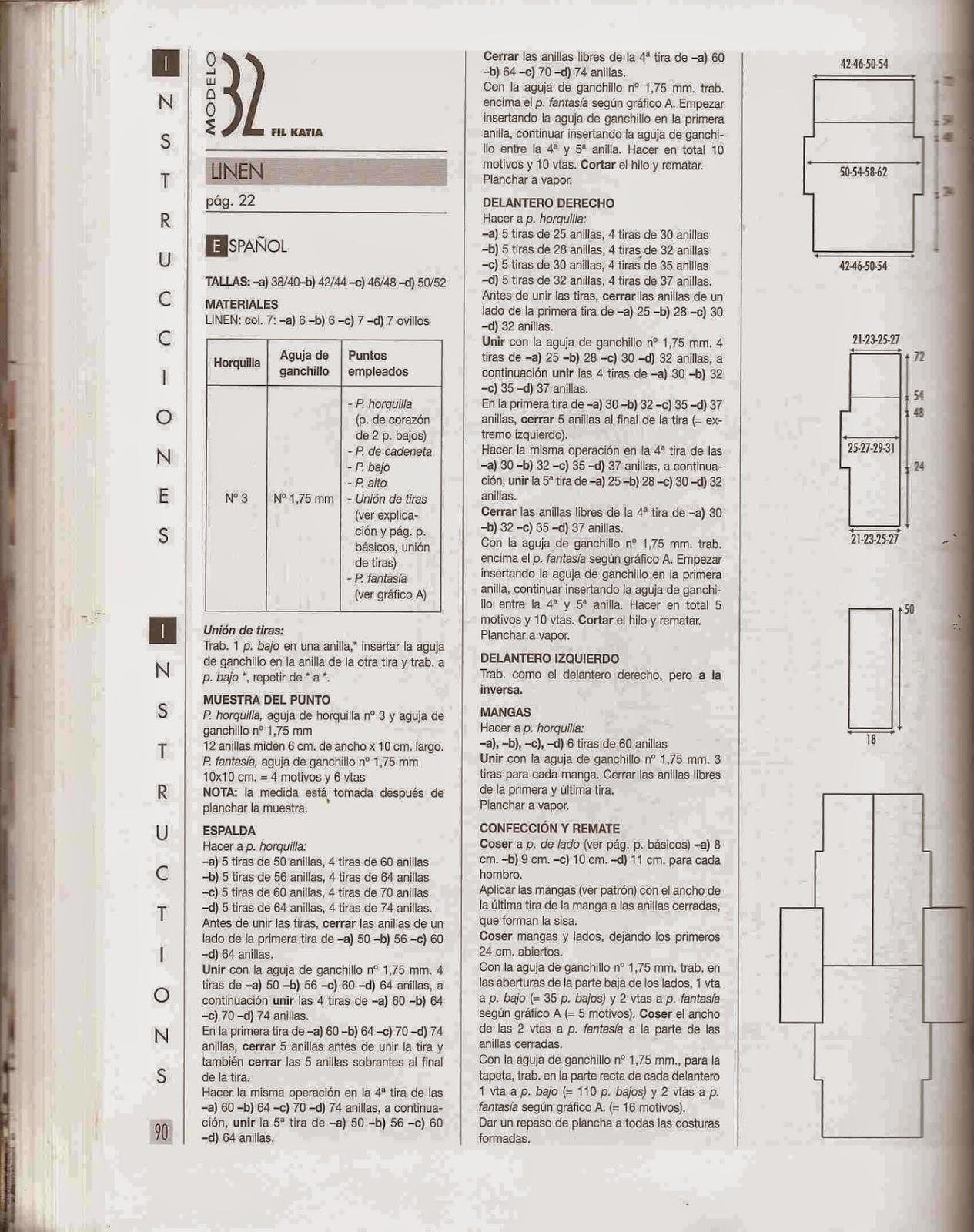 Instrucciones de Blusa