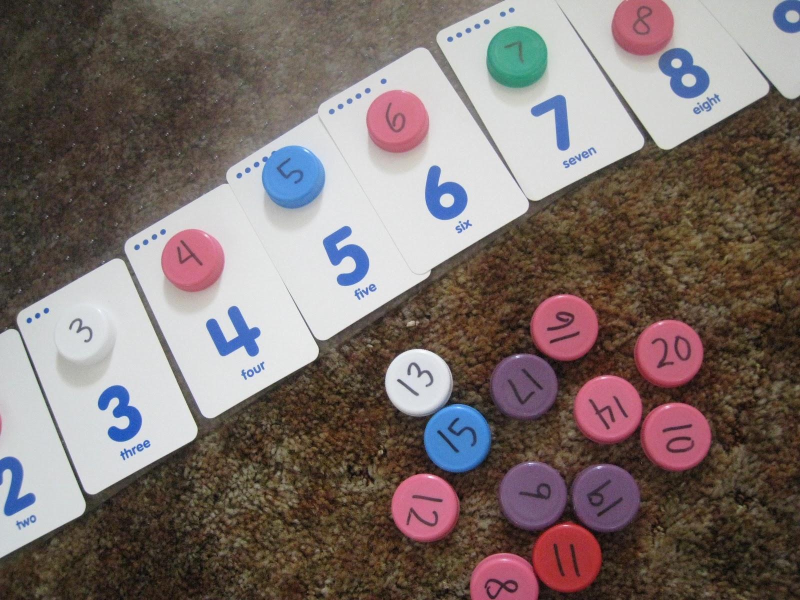 Milk Cap Math Games - Teach Beside Me