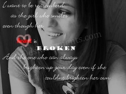 I Dont Want To Be The Broken Hearted Girl
