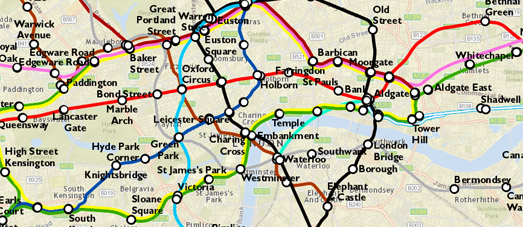 Maps Mania Terraforming London To Fit The Tube Map - Underground london map 2015