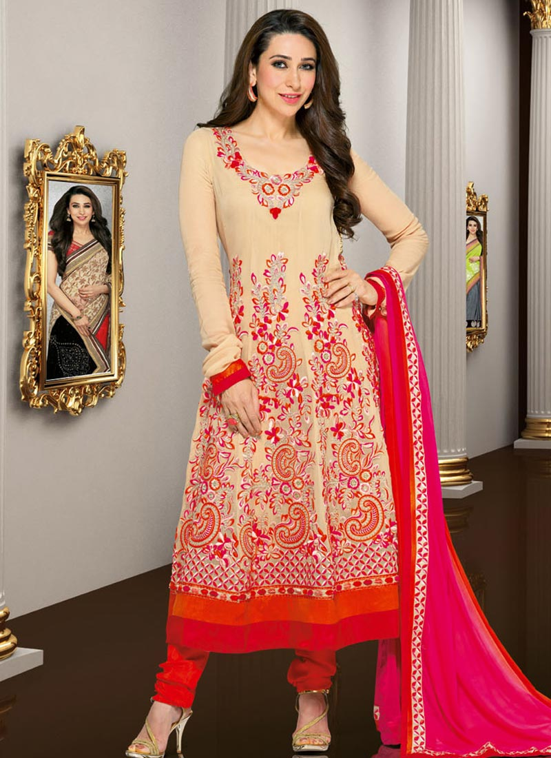 Karishma kapoor in designers anarkali suits 2013 latest for Online suit builder
