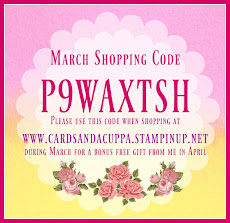 Hostess Code for your March  Stampin' Up! Shopping