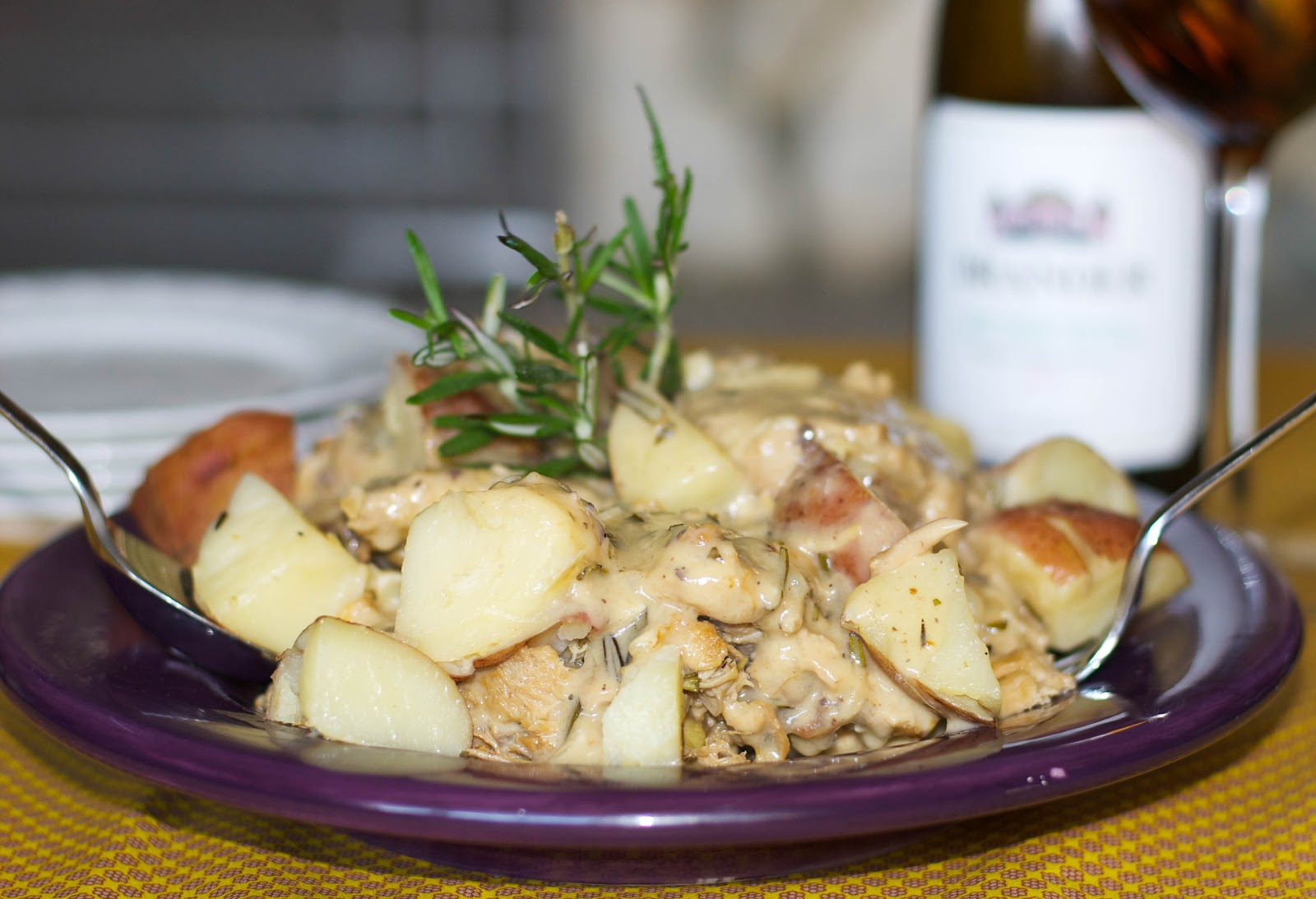 Braised Chicken and Red Potatoes in a White Wine Rosemary Sauce ...