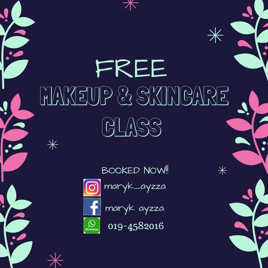 FREE MAKEUP & SKINCARE CLASS