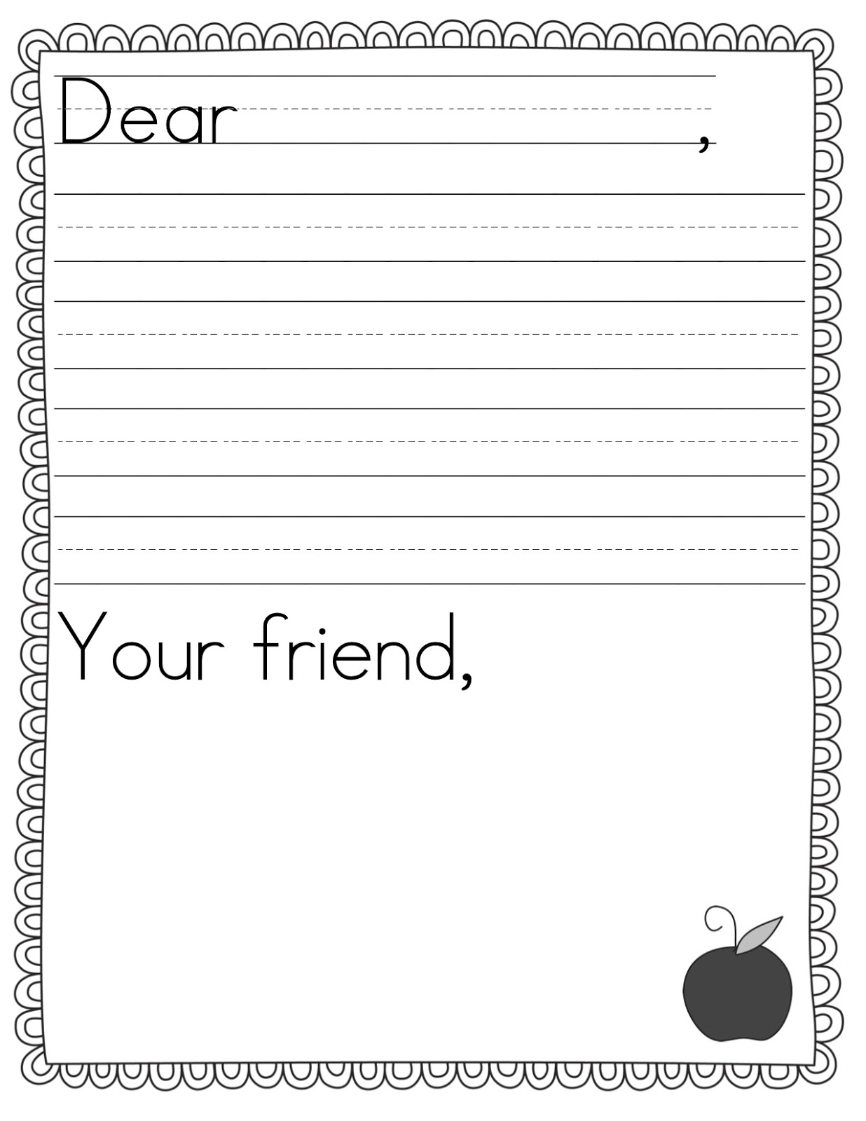 Letter writing template spiritdancerdesigns Image collections
