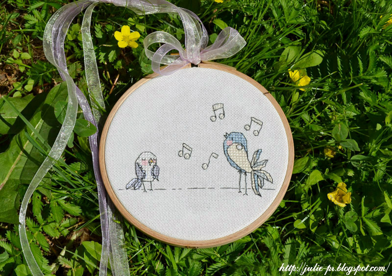 Этой весной я вышивала птичек