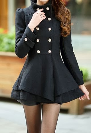 Little Black Multi Layer Coat