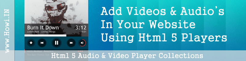 Html 5 Audio and Video Player Collections