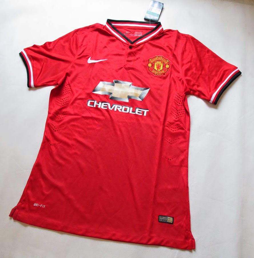 Jual jersey manchester united home 14-15 chevrolet murah