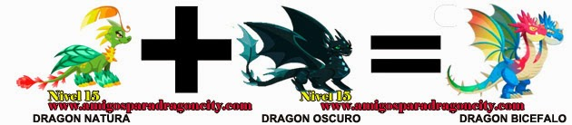 como hacer el dragon bicefalo en dragon city formula 2
