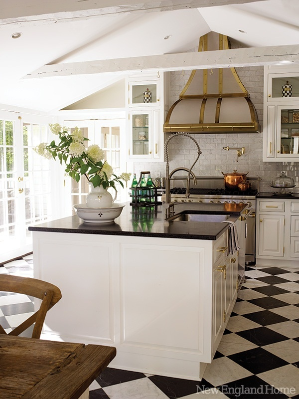 Ciao newport beach french kitchen style for Country kitchen floor ideas