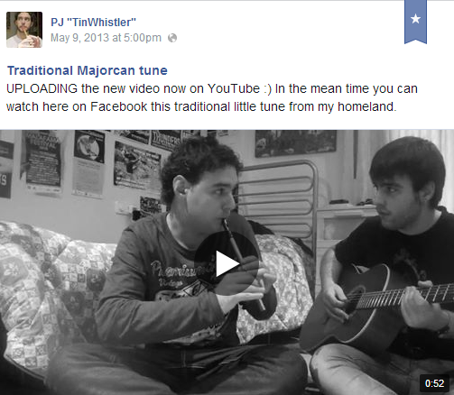 Traditional Majorcan tune (video on FB)