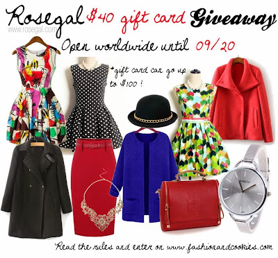 $40 Gift Card Giveaway on Rosegal.com, Fashion and Cookies, fashion blog