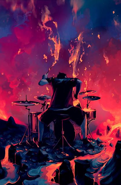 digital art music,drummer,rage