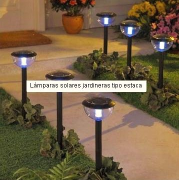 Everblue l mparas estaca solar para jardin no usan for Lamparas decorativas para jardin