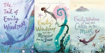 bookcovers for  THE TAIL OF EMILY WINDSNAP & Monster from the Deep & Castle in the Mist by Liz Kessler