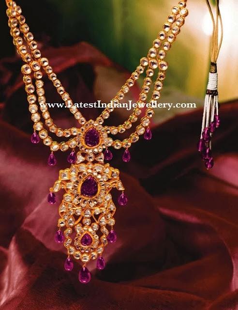 Tanishq Polki Diamond Bridal Necklace