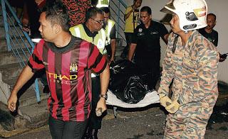warga indonesia tersepit lif pulau pinang