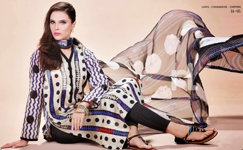 Nishat Lawn Summer Prints 2014 15+www.Clothing9.blogspot.com+25 Nishat Linen Summer Collection 2014   Nisha Lawn Prints