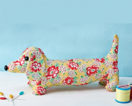 The Vintage Pattern Files 1950s Sewing Dave The Dachshund Doorstop