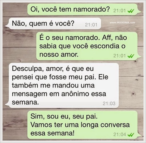 Filha no whatsApp