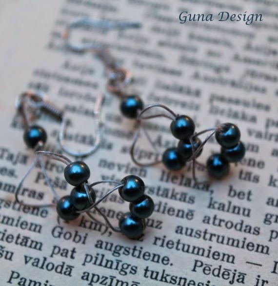 gunadesign guna andersone wire and bead earrings