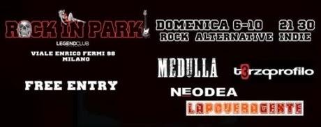 Serata conclusiva festival Rock in Park al Legend Club di Milano