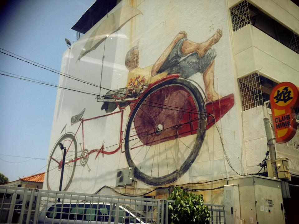 Penang Street Art   Mural Painting  By Ernest Zacharevic