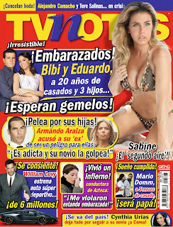 Sabine Moussier TV Notas Mexico Magazine Photoshoot January 2014 HQ Pictures
