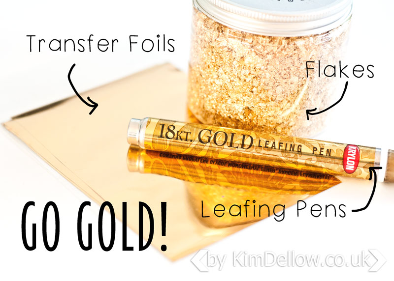On trend this season are Gold effects using transfer foils