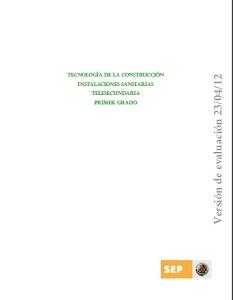 TEC. INSTALACIONES SANITARIAS