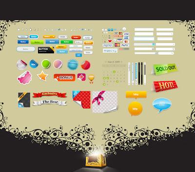PSD Icon untuk membuat web