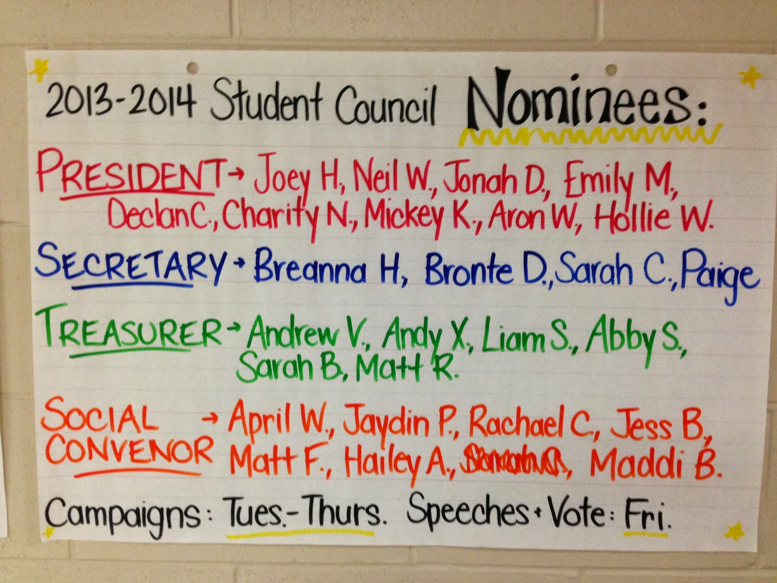 student council vice president Success