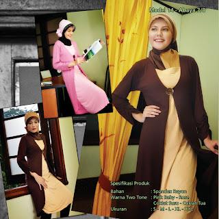 Koleksi Mazaya Muslimah Pink baby rose Coklat susu coklat tua